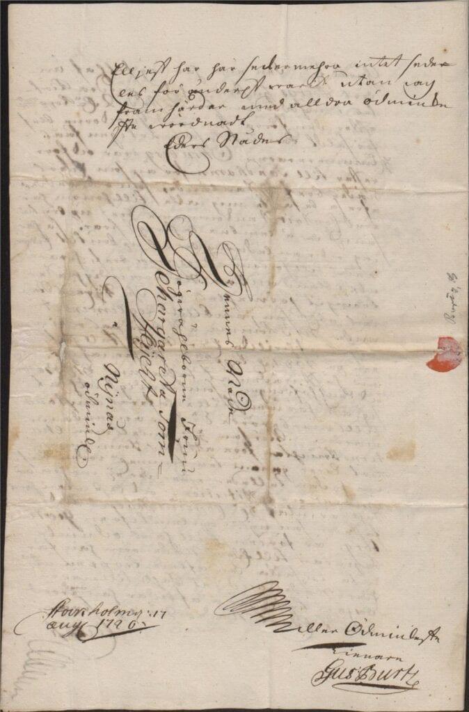 Margareta Törnflyckt 17 augusti 1726 brev till Christina Piper sid 4
