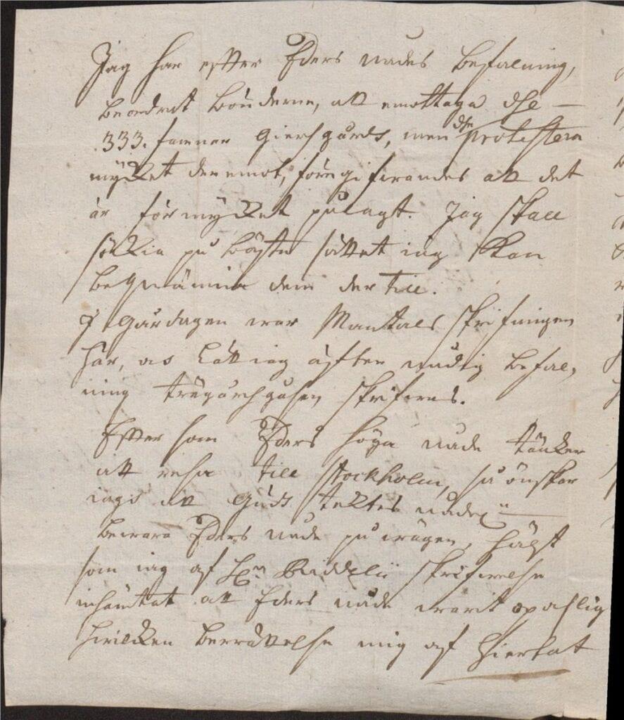 14 dec N Eldberg 1726 Christina Piper brev sid 2