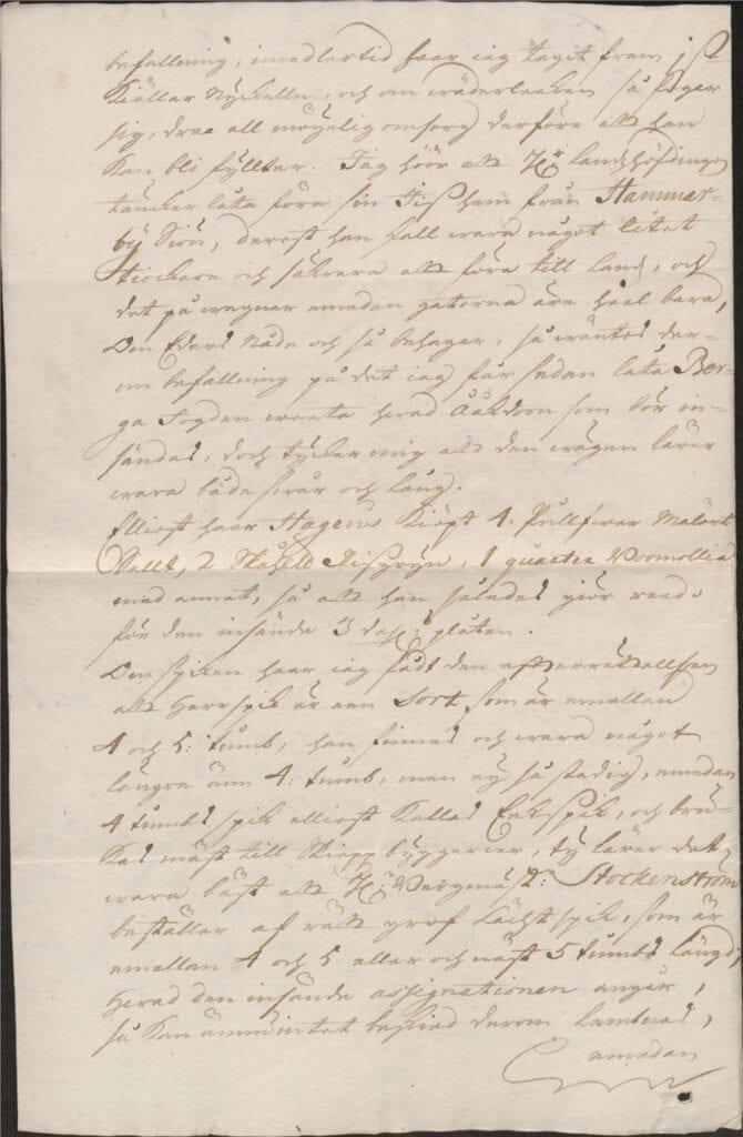 brev 1 mars 1722 från Johan Örnbergh sid 2