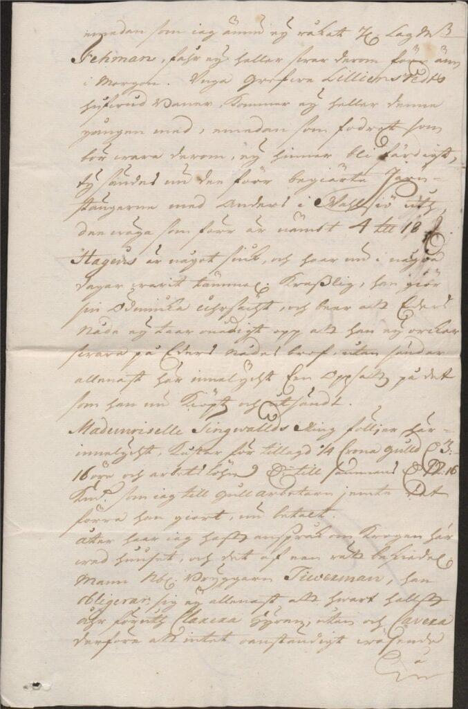 brev 1 mars 1722 från Johan Örnbergh sid 3